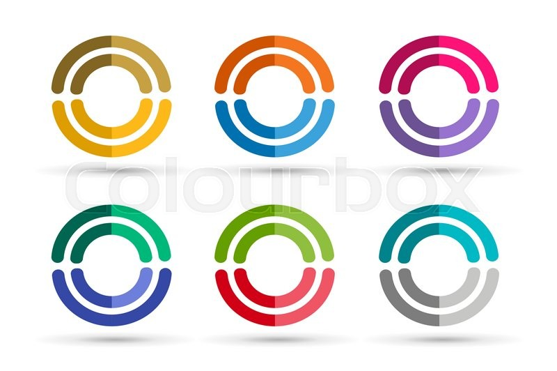 web technology orbit stock vector abstract design photo ring logo flow rin rings template circle round