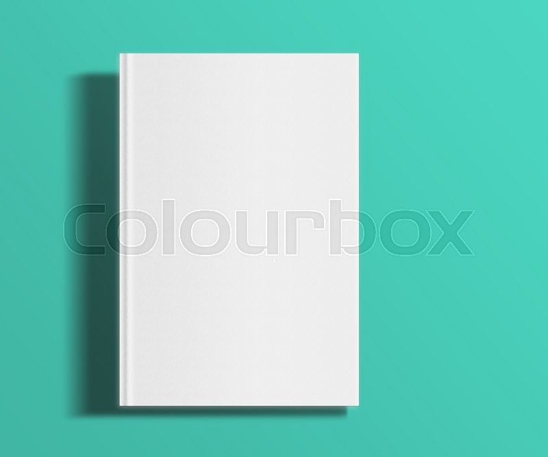 Blank Book Cover Background ~ Blank book cover template on trendy flat background with