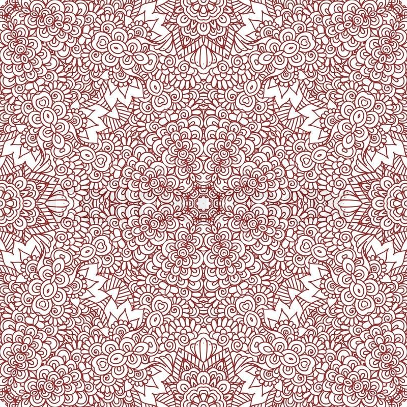 Ethnic doodle seamless pattern. Mehndi henna indian design