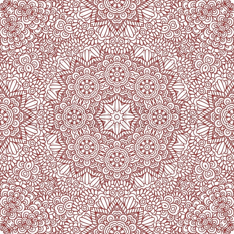 Ethnic Doodle Seamless Pattern Mehndi Stock Vector Colourbox