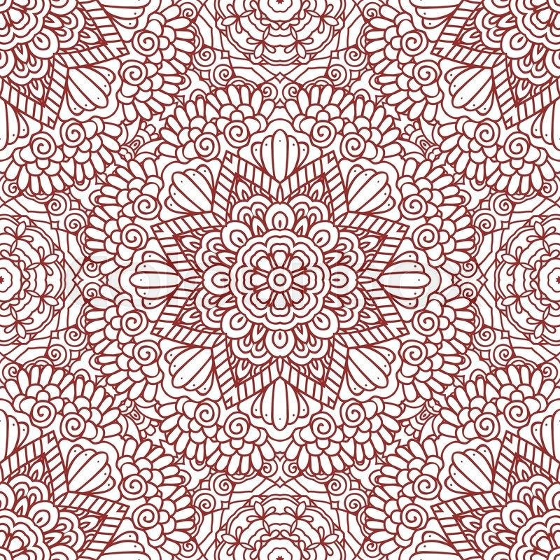 Mehndi Backdrop Ideas : Ethnic doodle seamless pattern mehndi henna indian design