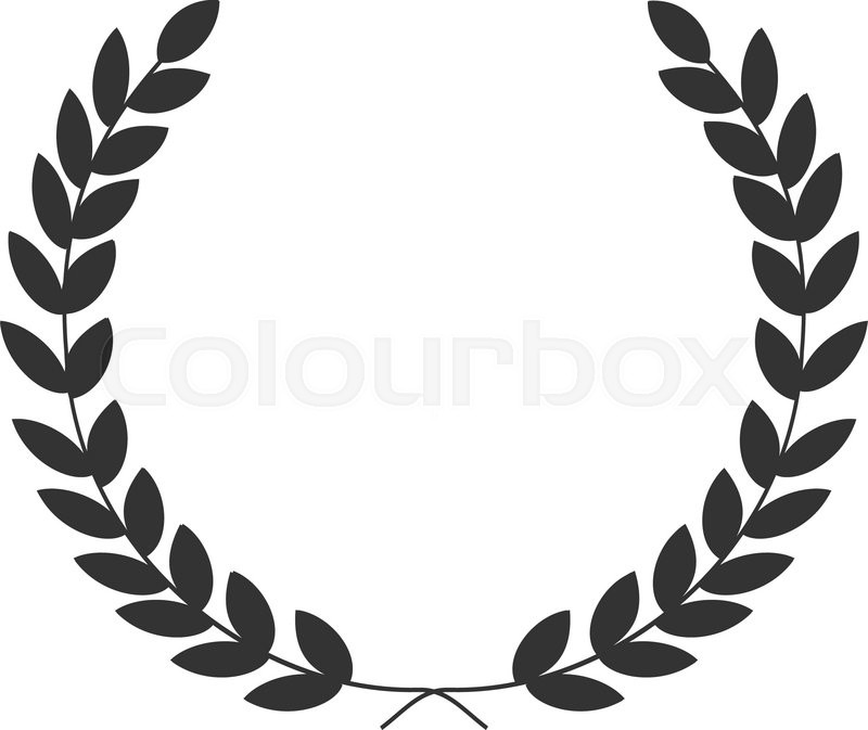 A Laurel Wreath Symbol Of Victory And Achievement
