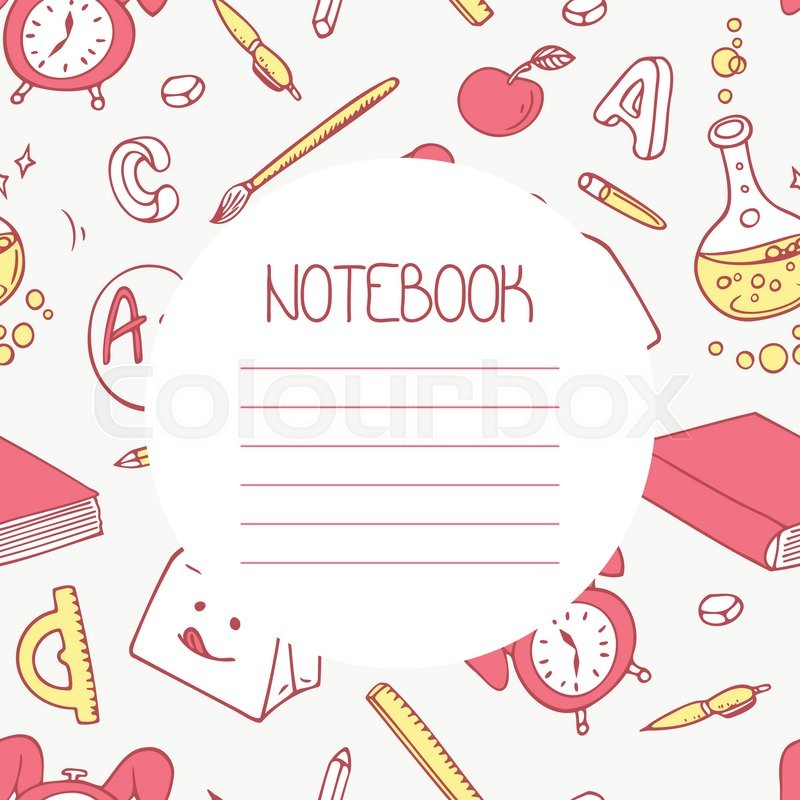 Back To School Doodle Notebook Design And Hand Lettering