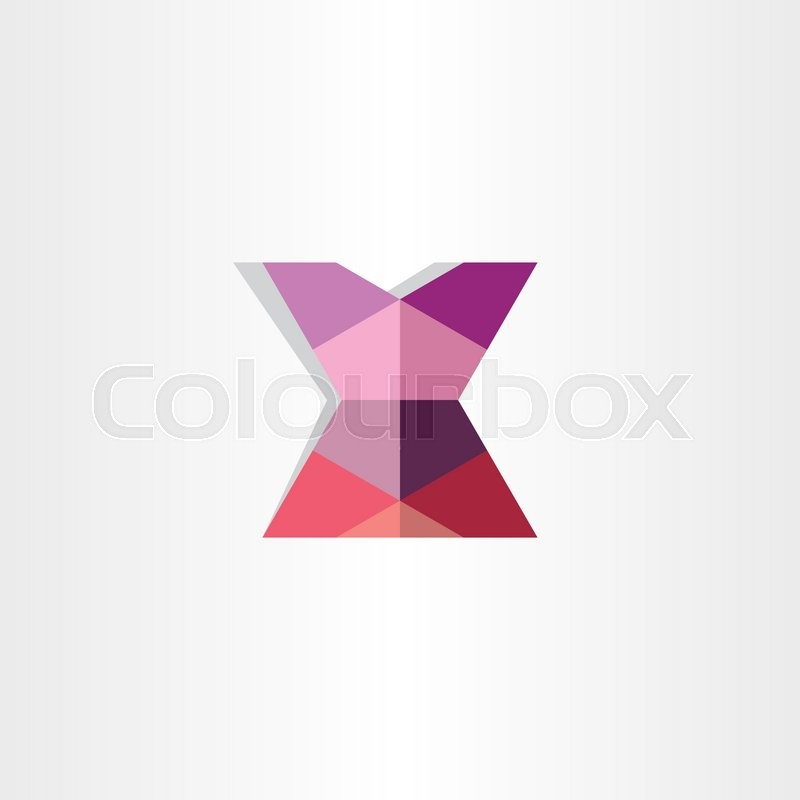 Female Mini Skirt Origami Icon Design Stock Vector Colourbox