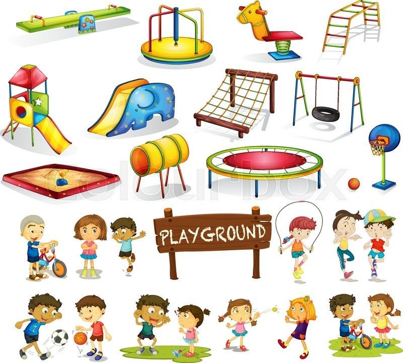 Spielplatz, clipart, leiter | Vektorgrafik | Colourbox