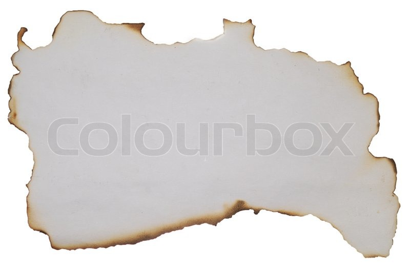 altes papier mit verbrannt kanten in wei stock foto colourbox. Black Bedroom Furniture Sets. Home Design Ideas