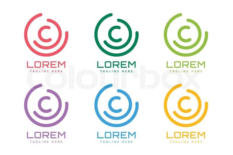 C Letter Vector C Logo Icon Template C Symbol Silhouette C