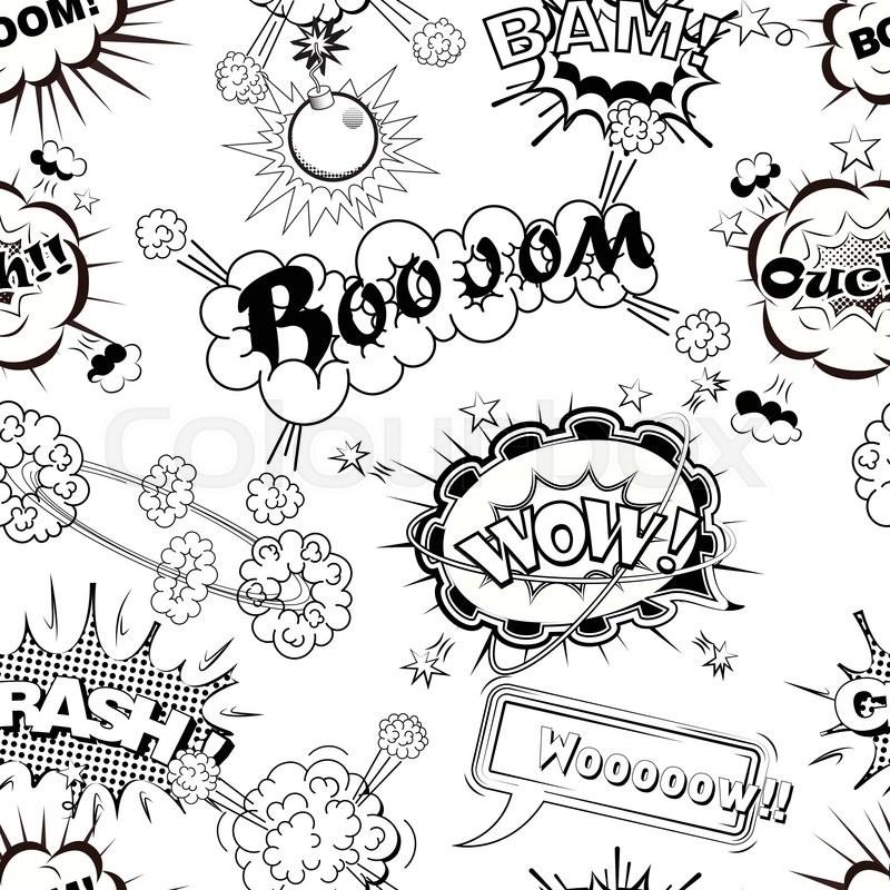 Seamless pattern comic speech bubbles     | Stock vector | Colourbox