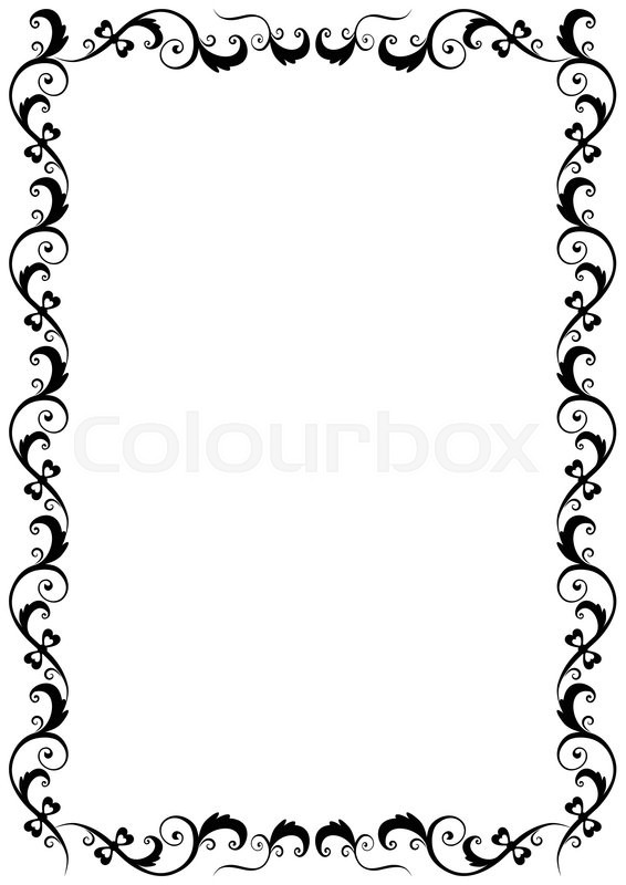 Floral vector frame format A4 | Stock Vector | Colourbox