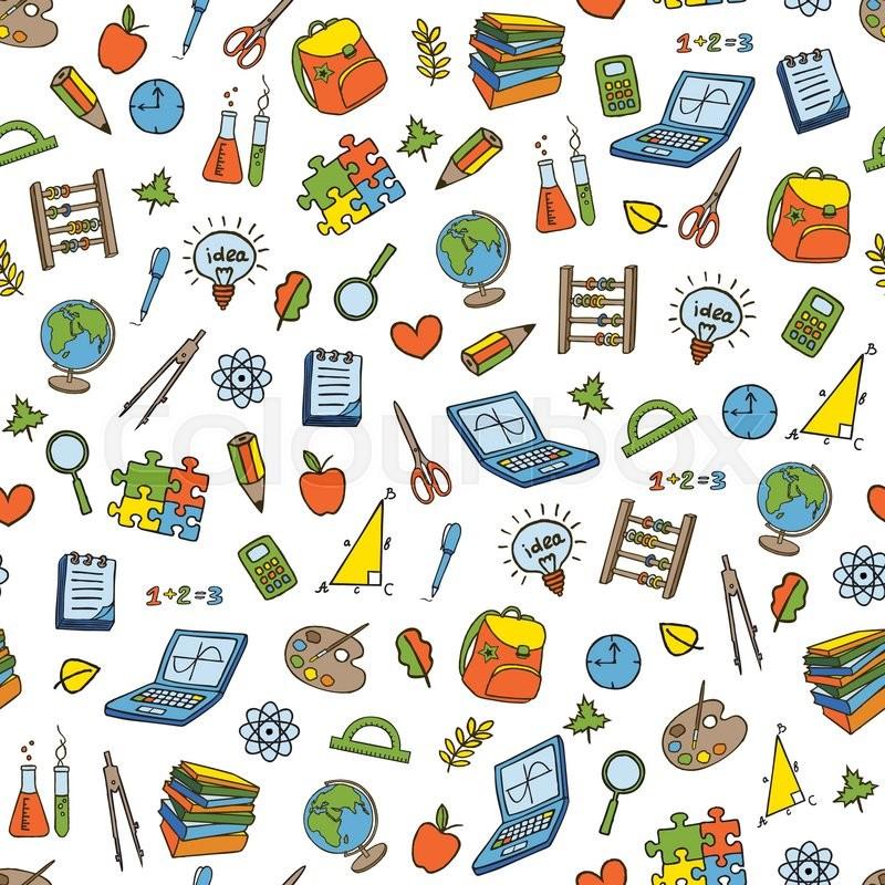 School Supplies Wallpaper