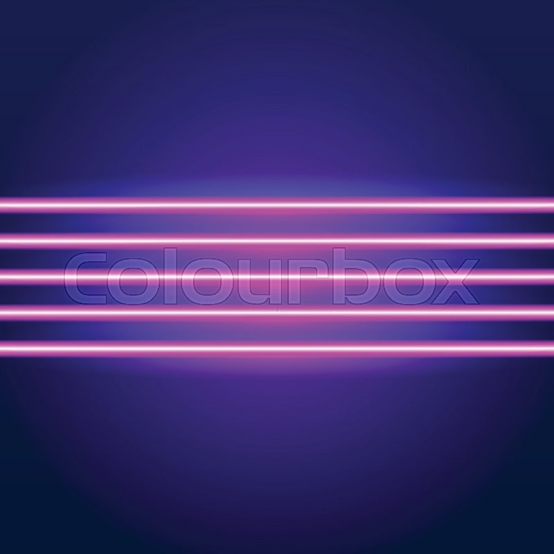 Bright neon lines background with 80s       Stock vector