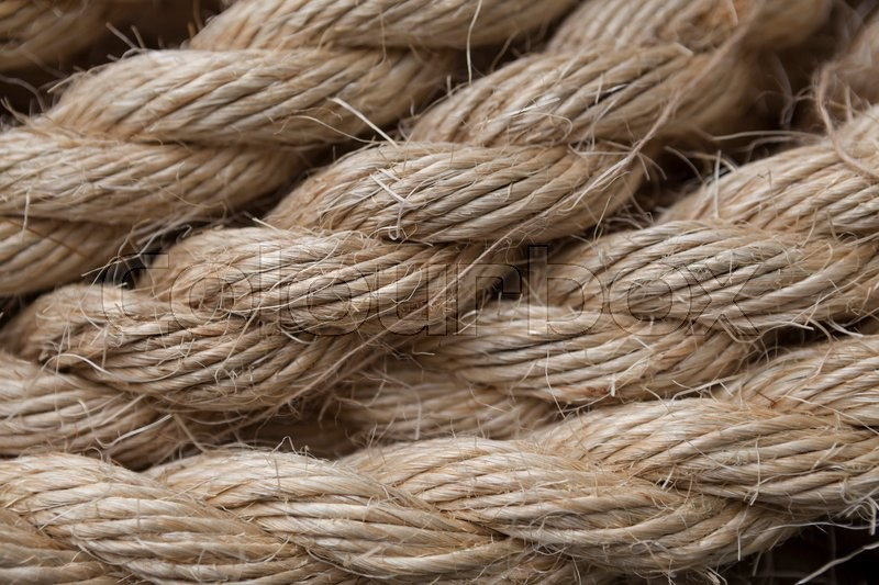 Ribbon Cable Texture : Roll of ship ropes as background texture stock photo