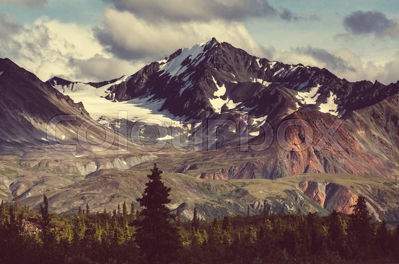Mountains on Alaska, stock photo