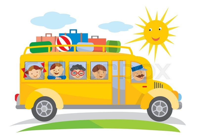 cartoon of yellow school bus traveling on a school trip school bus clip art download free school bus clip art free