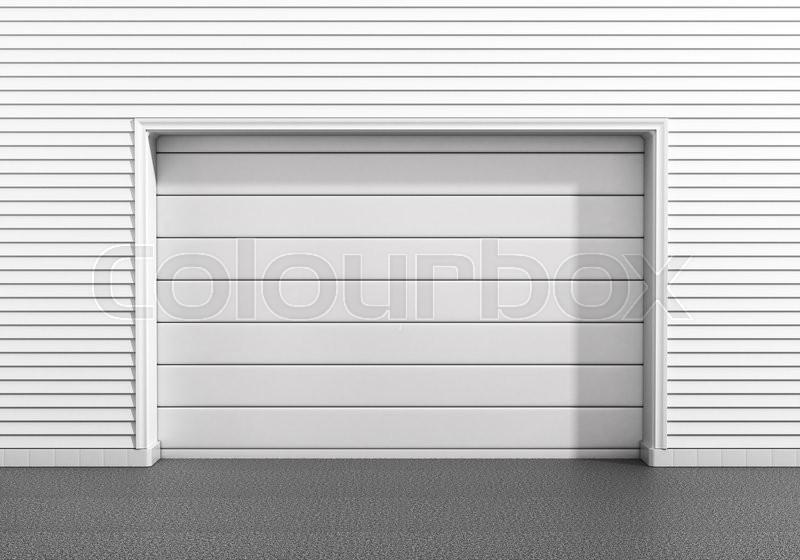 Garage door at a modern building, stock photo