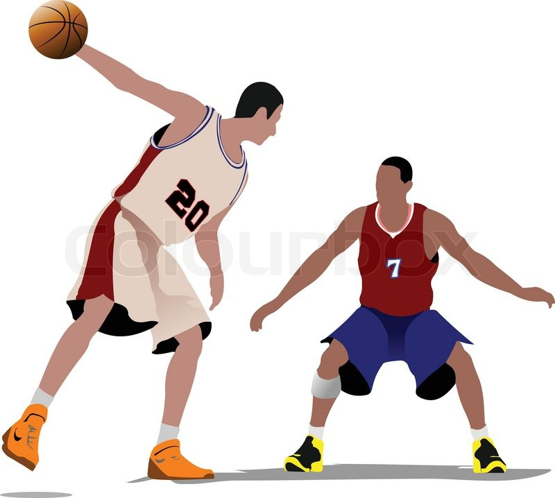 basketball players vector illustration stock vector colourbox rh colourbox com basketball player victor jackson basketball player vector silhouette
