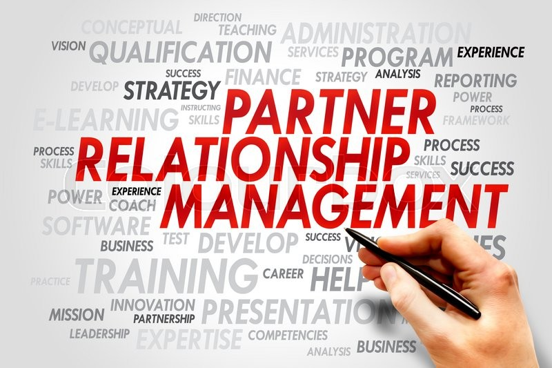 Partner Relationship Management word cloud, business concept ...