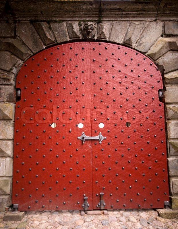 Big red door on Kronborg Castle in Elsinore Denmark | Stock Photo | Colourbox & Big red door on Kronborg Castle in Elsinore Denmark | Stock Photo ...