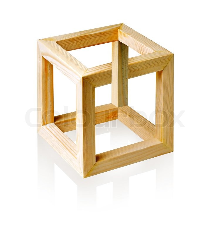 Unreal Cube On White Background. (Isolated With Path