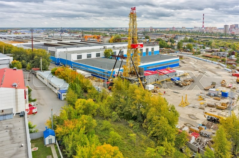 Tyumen Russia  city photos gallery : Tyumen, Russia September 4, 2015: Aerial view onto installation of ...