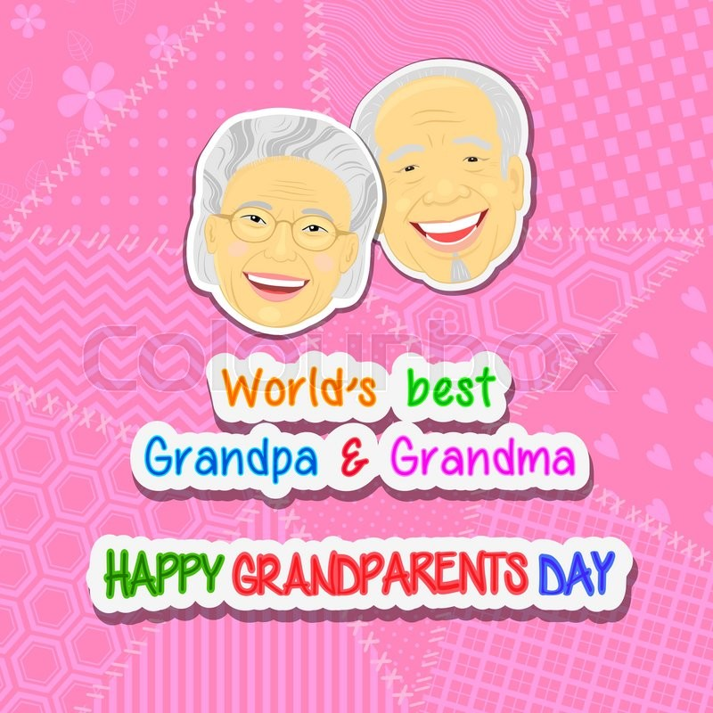 international grandparents day greeting and with faces grandmothers
