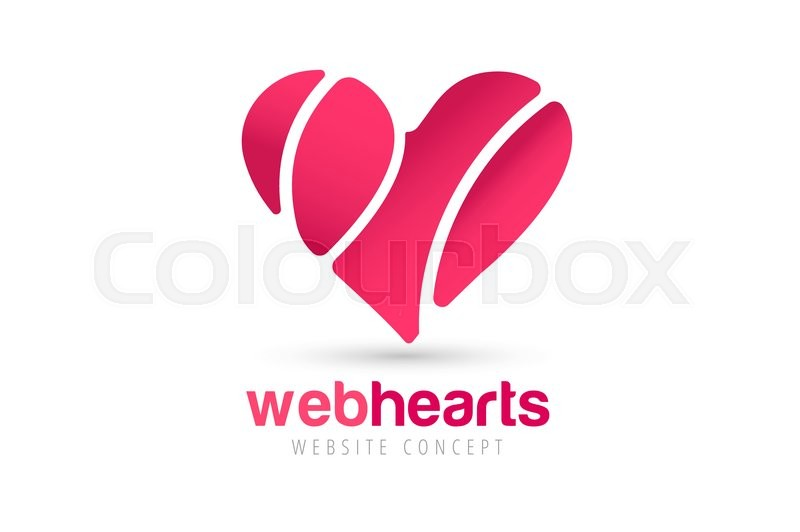Heart Icons Vector Logo Heart Logo Heart Shape Togetherness