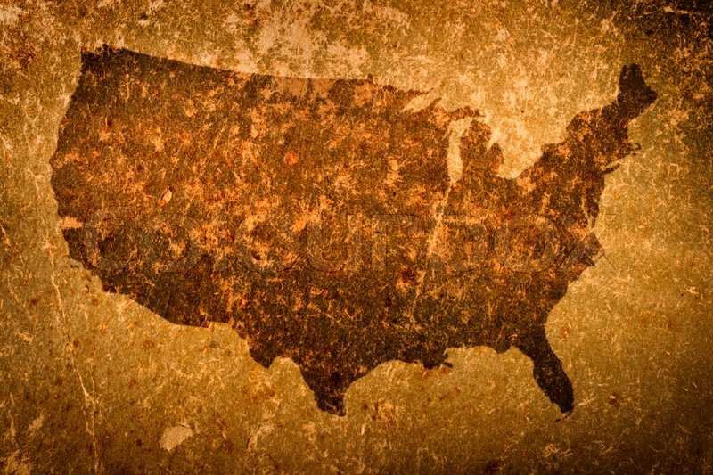 Old Grunge Map Of United States Of America Stock Photo Colourbox - How old is the united states of america