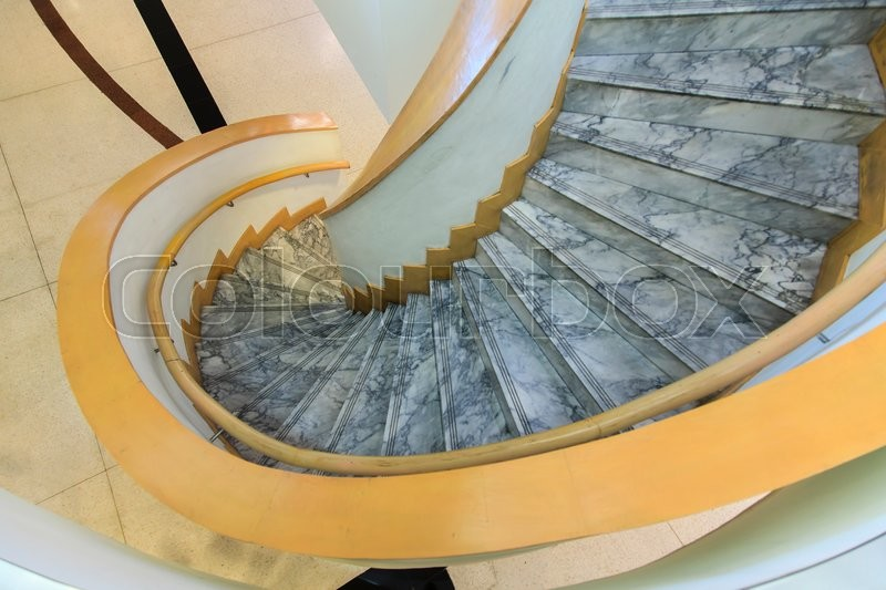 spiral staircase in modern building , stock photo