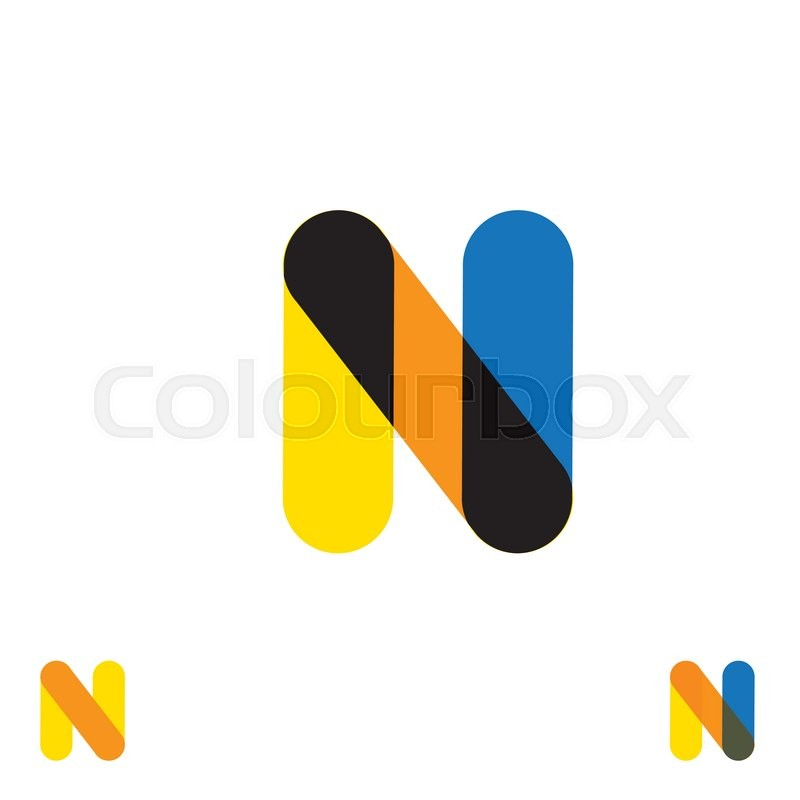 abstract letter n logo design vector template and colorful creative