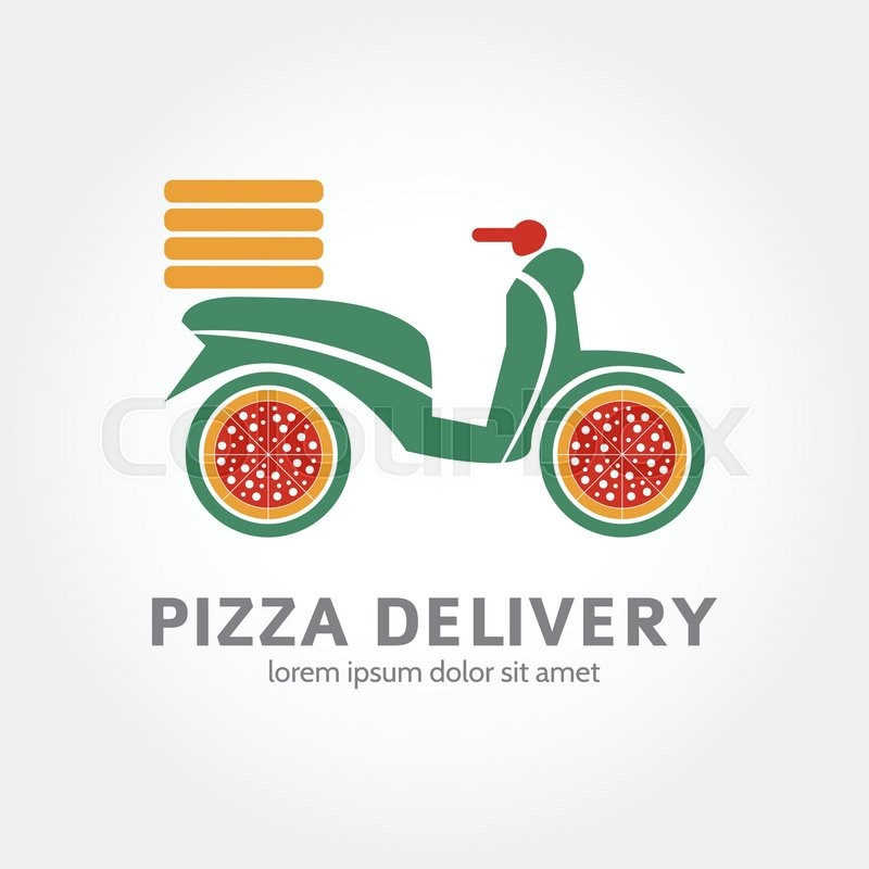 pizza delivery logo design logotype of food delivery