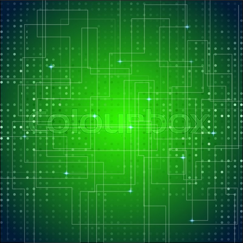 Circuit Board Texture Green Abstract Vector Background | Stock ...