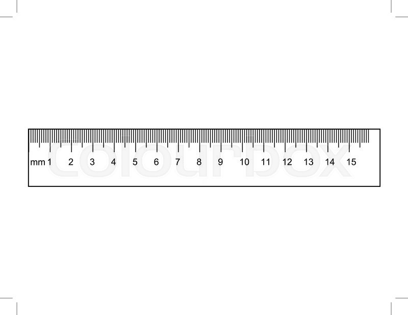Drawing Lines Using A Ruler Ks : Outline illustration of ruler instrument measurement