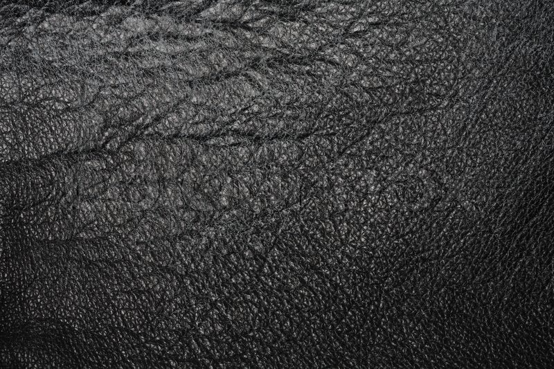 Worn And Cracked Black Leather Texture Stock Image