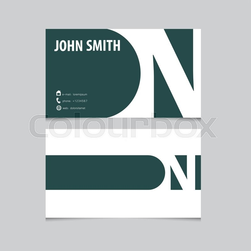 Business card template letter n vector logo design stock vector business card template letter n vector logo design vector reheart Gallery