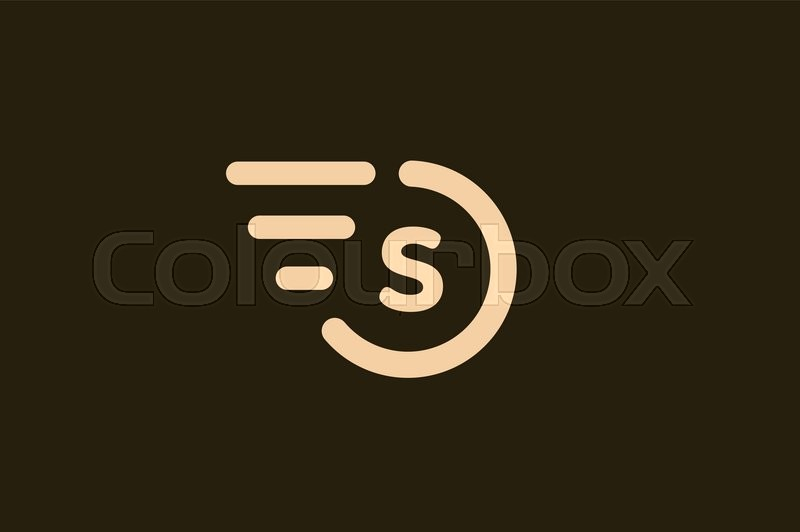 Fast Line S Letter Circle Logo S And Rings Monogram Vector S