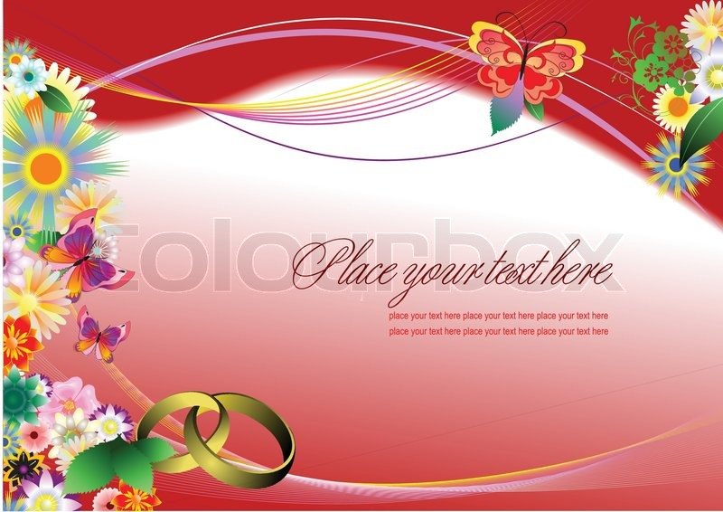 Wedding Invitation On Purple Stock Vector Colourbox