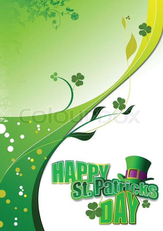 Vector of green hats and shamrocks for st patrick 39 s day for Irish mail cart plans