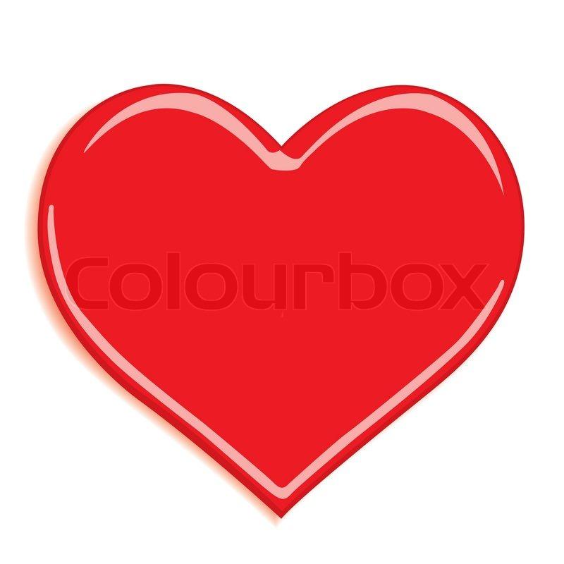 Stilisierte Valentinstag Herz Auf Weißem Hintergrund   Vektorgrafik    Colourbox