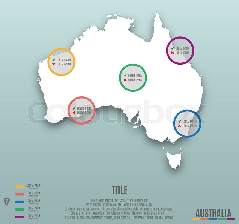 Infographic Template Slide Of Australia Map Presentation Template - Australia map infographic