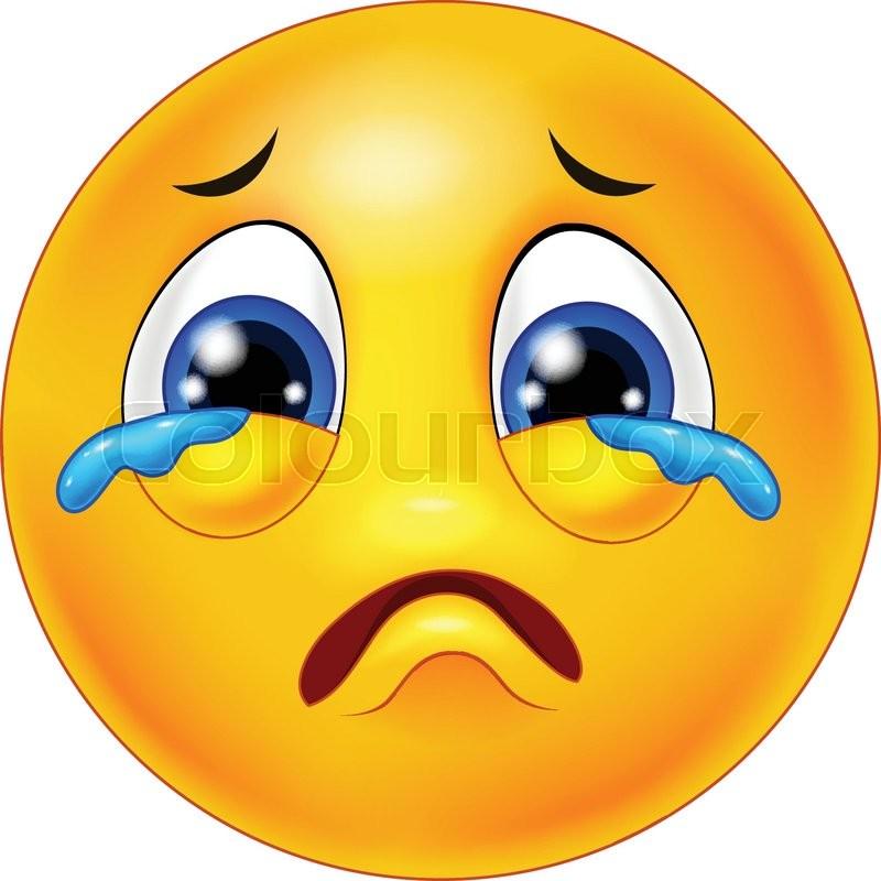 Illustration Of Crying Emoticon Cartoon Stock Vector Colourbox