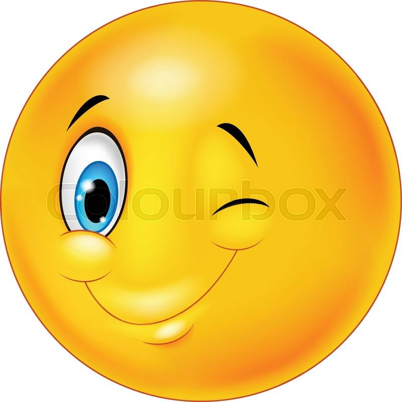 Illustration of Smiley happy emoticon cartoon with ok sign ...