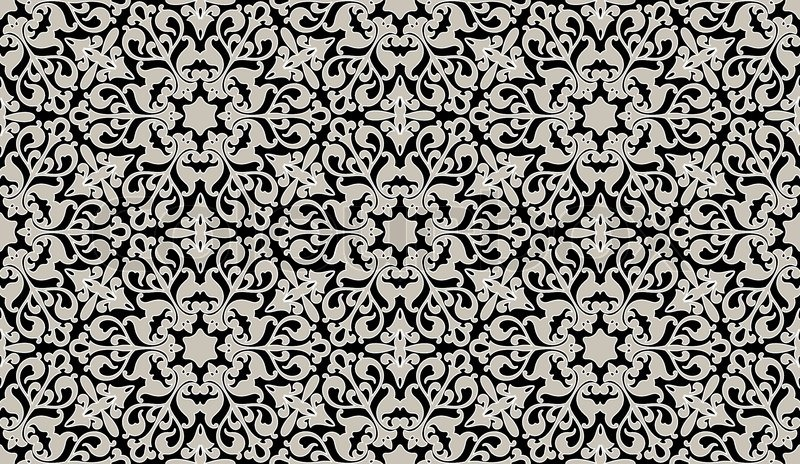arabische nahtlose blümchenmuster    vektorgrafik