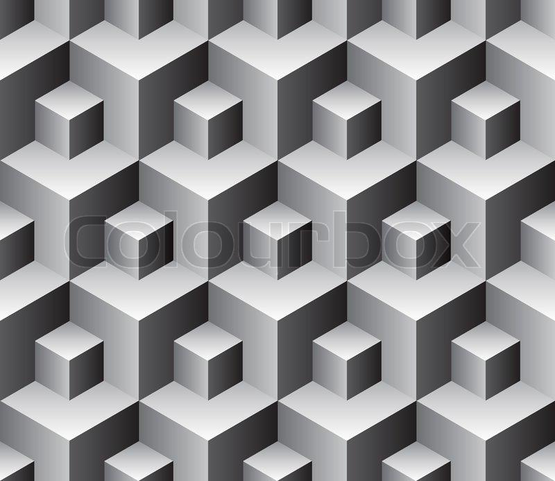 Muster Fur Pflastern : Nahtlose Würfel Hintergrund  Vektor Muster für die kontinuierliche