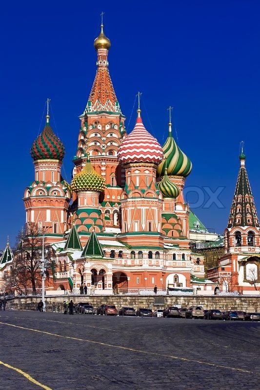 basiliuskathedrale am roten platz moskau russland