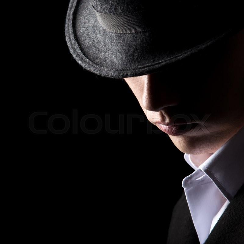 Handsome Unrecognizable Man In Hat, His ...