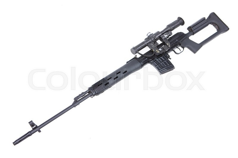 russian sniper rifle mmg svd by dragunov with optics