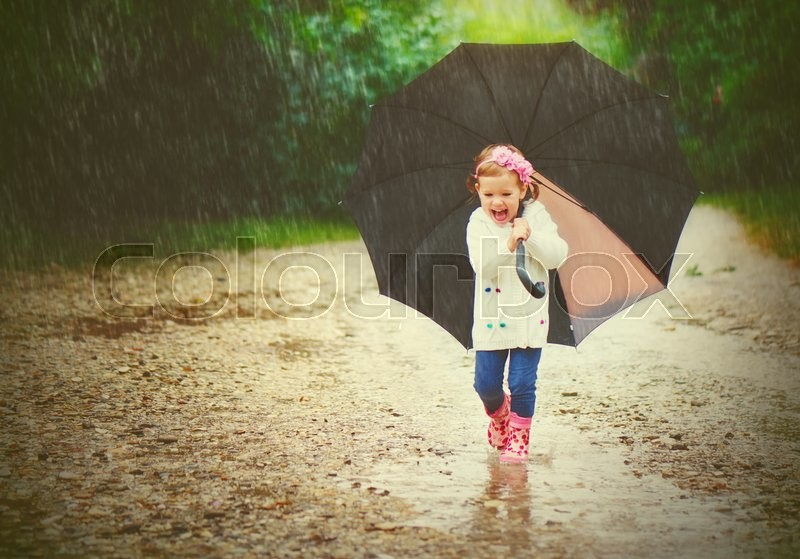 photo of girls with umbrellas № 22176