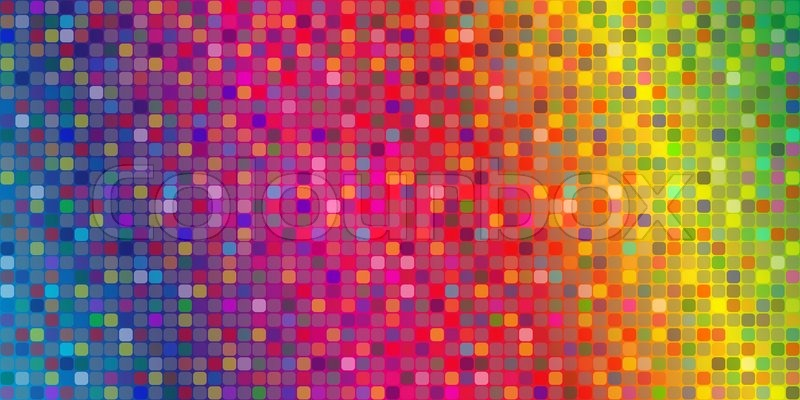 Background made of mosaic tile of different color Stock Photo
