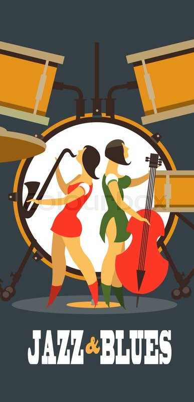 Abstract Jazz Band Jazz Music Party Stock Vector