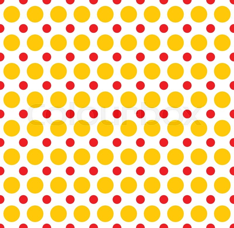 red yellow dotted polka dot background vector illustration vector